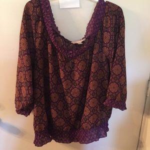 Beautiful XL Purple Blouse